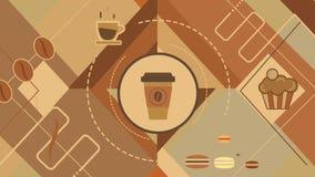 Lebhafter Hintergrund auf Kaffee stock video footage