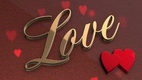 Lebhafter Hintergrund der Liebe stock footage