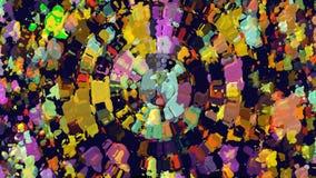 Lebhafter Hintergrund mit undeutlichen Partikeln stock video footage