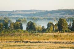 Lebhafter Morgen in der Landschaft Stockfotografie
