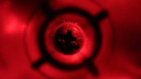 Lebhafter roter Schrauben-Hintergrund stock footage