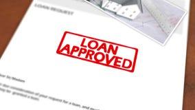 Lebhafter Stempel, der das Darlehen genehmigt formuliert lizenzfreie abbildung