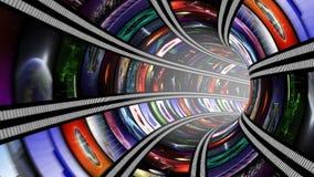 Lebhafter Wormhole mit nahtloser Schleife 4K der Videowand stock video footage