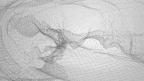 Lebhaftes abstraktes wireframe niedrig-Poly-nahtlose Schleife 3D lizenzfreie abbildung