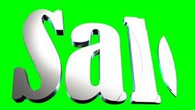 Lebhaftes Aufschrift ` Verkauf ` auf einem grünen Hintergrund stock video footage