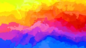 Lebhaftes beflecktes nahtloses Schleifenvideo des Hintergrundes - Aquarelleffekt - horizontal gestreiftes farbenreiches Spektrum  lizenzfreie abbildung