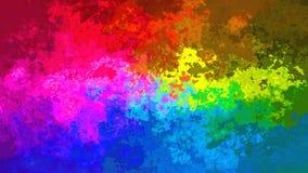 Lebhaftes beflecktes nahtloses Schleifenvideo des Hintergrundes - volle Spektrumfarben stock footage