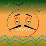 Lebhaftes Bild der Stimmung stock abbildung
