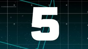 Lebhaftes Countdownvideo vektor abbildung