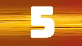 Lebhaftes Countdownvideo stock abbildung