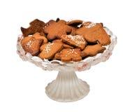 Lebkuchen auf einem Teller Lizenzfreie Stockfotografie