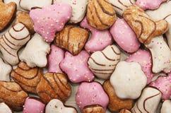 Lebkuchen biscuits closeup stock photo