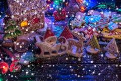 Lebkuchen für neue Jahre und Weihnachten Stockbild