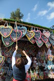 Lebkuchen/Gingerbread hearts Oktoberfest 2011 Royalty Free Stock Photos