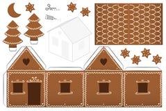 Lebkuchen-Haus-Papier-Modell Lizenzfreies Stockbild
