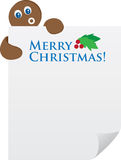 Lebkuchen-Mannholding Papier Stockbild