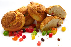 Lebkuchen mit kandierter Frucht Lizenzfreie Stockbilder