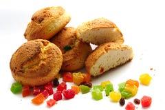Lebkuchen mit kandierter Frucht Stockfotos