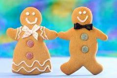 Lebkuchen-Paare Stockfoto