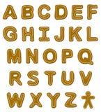 Lebkuchen-Schrifttyp-Zeichen Stockbilder