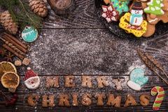 Lebkuchen und Kaffee für neue Jahre oder Weihnachten Stockfotos