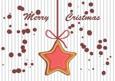 Lebkuchen verzierte farbige Zuckerglasur Qualitative Vektorillustration für neues Jahr ` s Tag, Weihnachten, Winterurlaub Stockbild