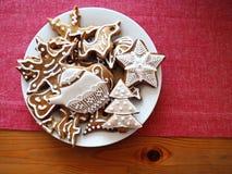 Lebkuchen verzierte Weiß Lizenzfreies Stockfoto