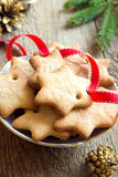 Lebkuchen-Weihnachtsplätzchen Stockfotografie