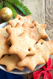 Lebkuchen-Weihnachtsplätzchen Lizenzfreies Stockbild