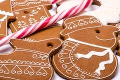 Lebkuchen-Weihnachtszahlen Stockfotografie