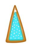 Lebkuchenbaum mit blauer Glasur Getrennt Weihnachten handmade lizenzfreie abbildung