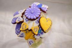 Lebkuchenblumenstrauß Lizenzfreies Stockfoto
