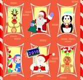 Lebkuchenhaus bewohnte Weihnachtscharaktere Stockfotografie