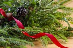 Lebkuchenherz und Weihnachtsbaum Lizenzfreies Stockbild