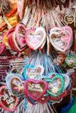Lebkuchenherzen d'Oktoberfest Photographie stock libre de droits