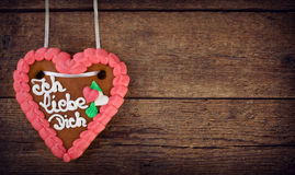 Lebkuchenherzen gingerbread Heart cookie Stock Image
