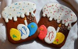 Lebkuchenplätzchen für Ostern Stockfotografie