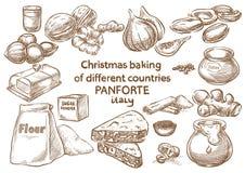 Lebkuchenplätzchen und aromatische Gewürze bestandteile Panforte Italien lizenzfreie stockfotos