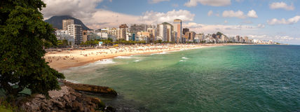 Leblon和Ipanema海滩 库存图片
