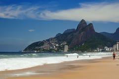 Leblon, Ipanema i Halny Dois Irmao w Rio De Janeiro, obrazy royalty free