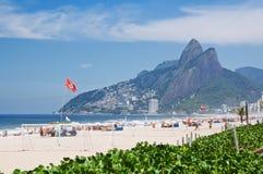Leblon, Ipanema and the Mountain Dois Irmao in Rio de Janeiro Royalty Free Stock Photography