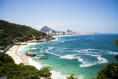 Leblon and Ipanema view from Vidigal Royalty Free Stock Images