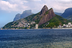 Leblon and the Mountain Dois Irmao in Rio de Janei Royalty Free Stock Photos