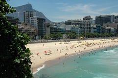 Leblon strand, Rio de Janiero Arkivfoto