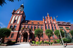 Lebork, Poland. Old architecture of Lebork, Poland. State of public and social offices royalty free stock image