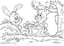 Lebre e esquilo Fotografia de Stock Royalty Free