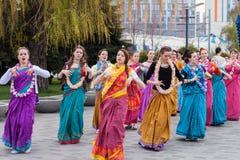 Lebre Krishna Festival imagem de stock royalty free