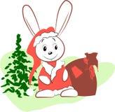 Lebre - Papai Noel Ilustração Royalty Free