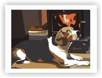 Lebreiro do cão na casa morna Fotos de Stock