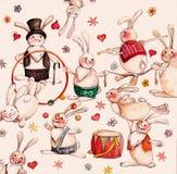 Lebres do circo Imagem de Stock Royalty Free